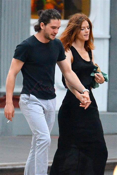 Kit Harington and Rose Leslie hold hands in New York where