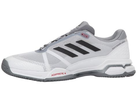 adidas Synthetic Barricade Club Tennis Shoe in White/Black