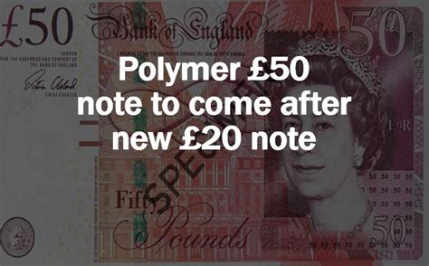 Bank of England announces plans for a new polymer £50 note