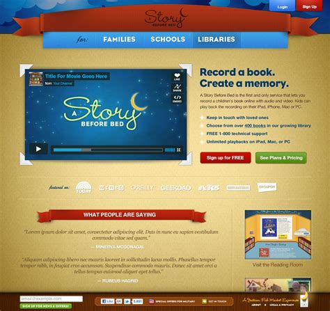 Kids Books Online - Free recordable children's ebooks from
