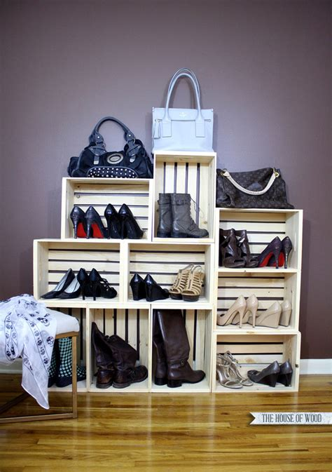 Easy Shoe Storage Display – The House of Wood