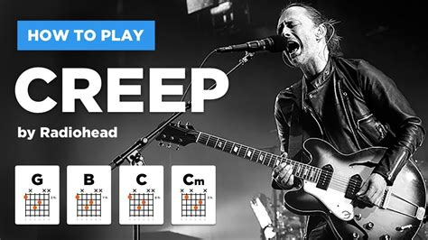 Creep • Radiohead guitar lesson (easy version without