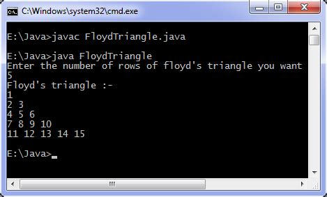 Java program to print Floyd's triangle | Programming