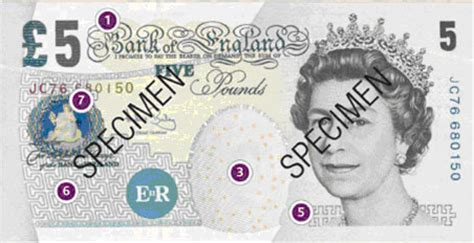 5 Pound sterling note - Counterfeit money detection: know how