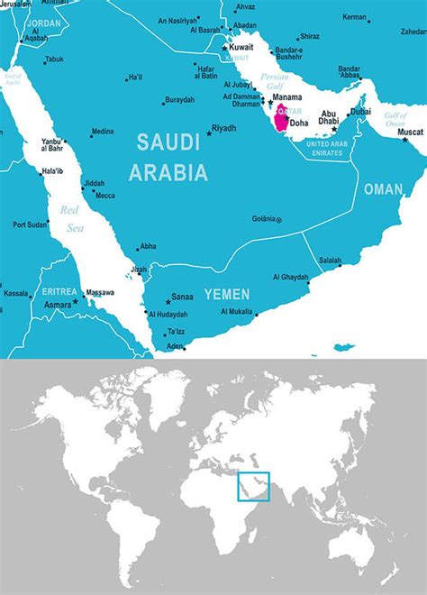 Qatar map: Where is Qatar? Facts on Doha and the Gulf