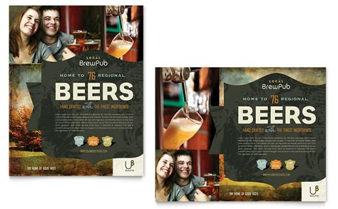 Brewery & Brew Pub Poster Template Design