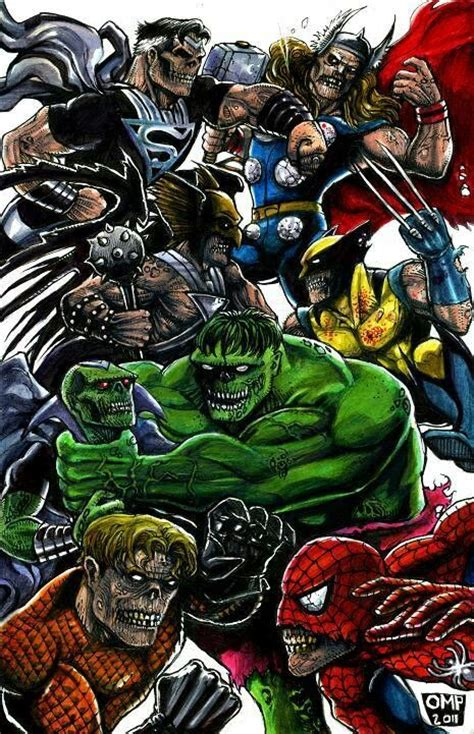 Anti-Monitor and Darkseid and Team Vs Marvel Zombies and