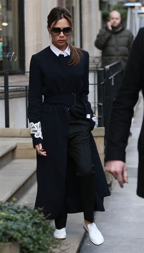 Victoria Beckham's gorgeous outfit and white kicks during