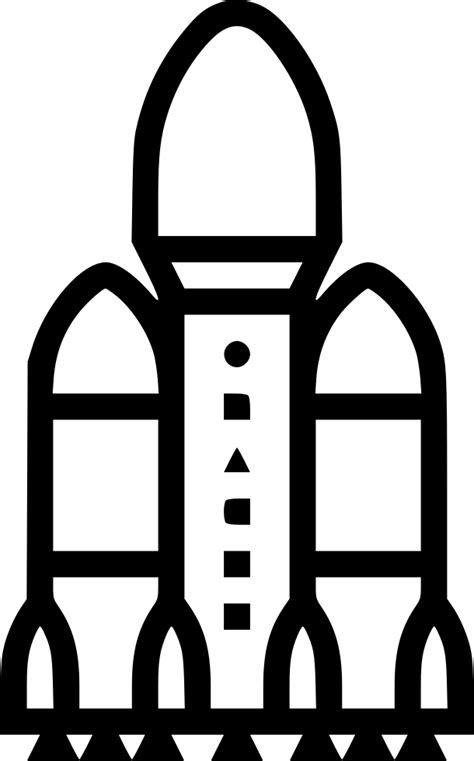 Rocket Falcon Heavy Spacex Svg Png Icon Free Download