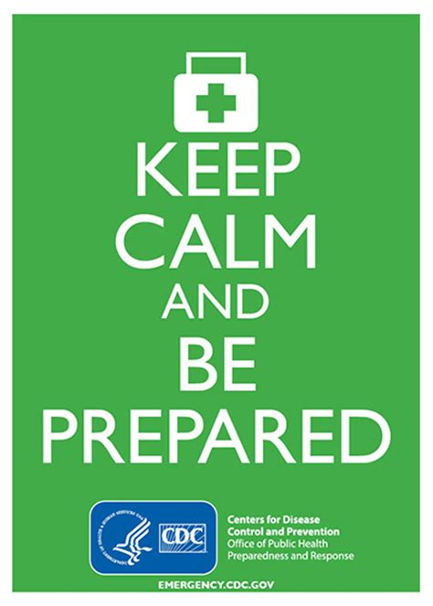 Keep Calm and Be Prepared (Green)|Preparedness Content for