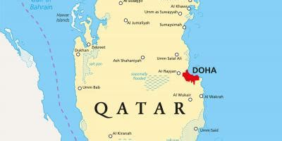 Qatar cities map - Qatar map with cities (Western Asia - Asia)