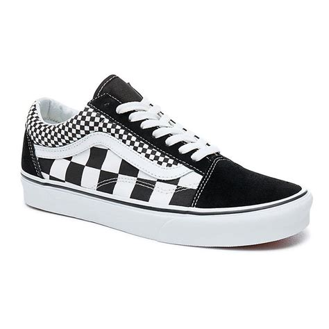 Tenisky Vans Old Skool mix checker black/true white