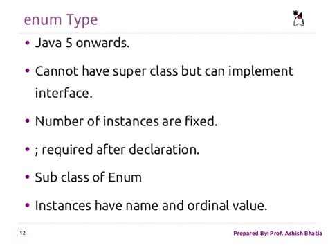 Nested and Enum Type in Java