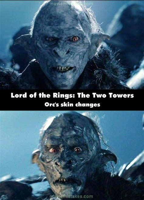 The Lord of the Rings: The Two Towers (2002) movie mistake