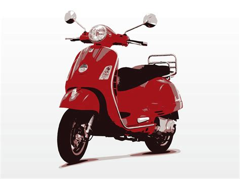 Vespa Scooter Vector Vector Art & Graphics | freevector