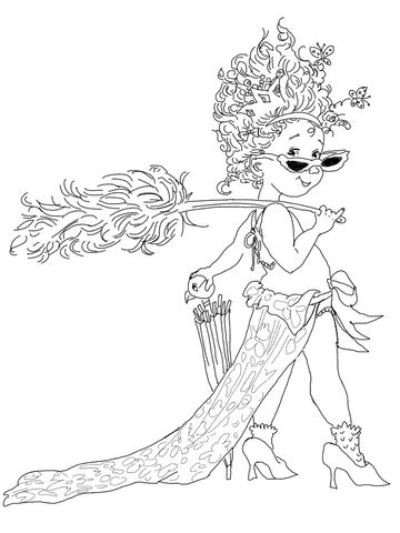 Fancy Nancy with Umbrella coloring page   SuperColoring