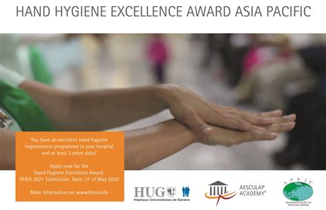 Hand Hygiene Excellence Award – Asia Pacific Society of
