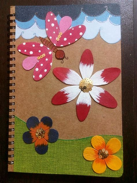 How to Decorate a Folder or Diary with Wooden Ice Cream Spoons