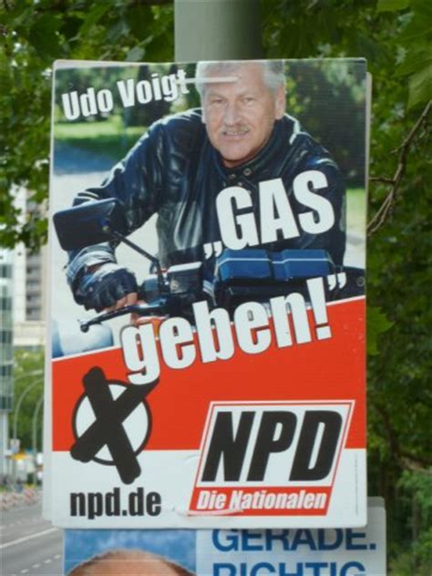 NPD election posters - GAS geben - Life in Germany