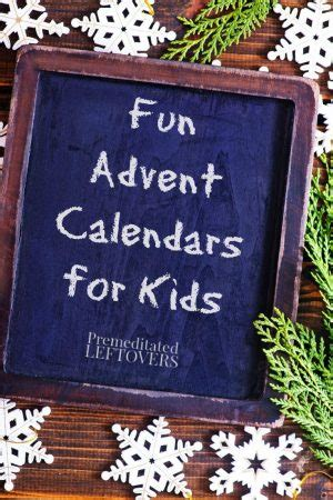 10 Fun Advent Calendars for Kids - Alternatives to Candy
